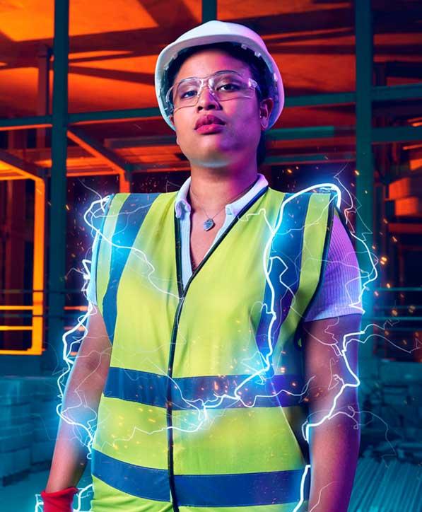 A construction apprentice